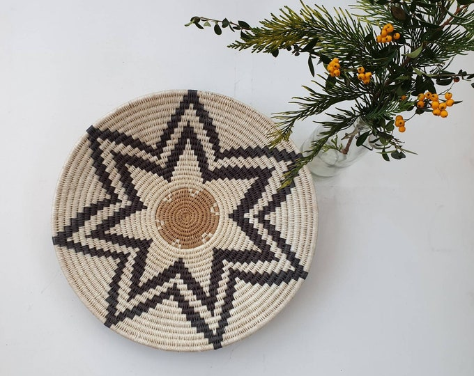 Handwoven sisal basket/Woven basket/African basket /African decor/Home accessory