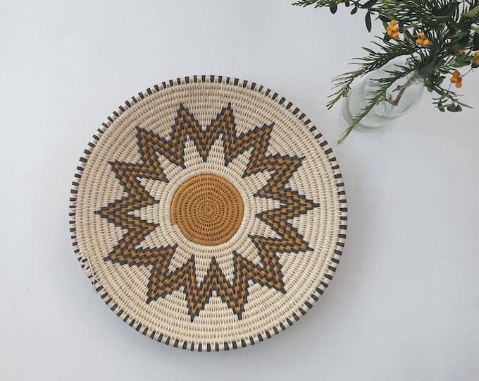 Handwoven sisal basket/Woven basket/African basket /African decor/Home accessory