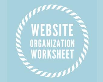 WOW Website Organization Worksheet