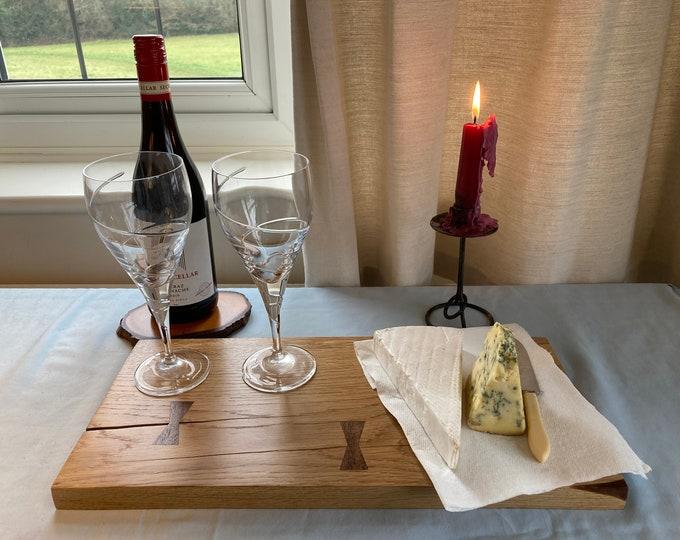 Old Oak Serving Board/oak platter board/oak cheese board