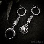 SUN & MOON dangle mono earring