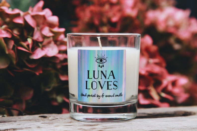 Luna loves soy and coconut vegan highly scented candles lots of scents to choose from