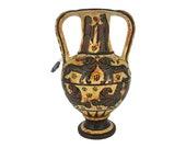 Ancient Greek Proto-Corinthian Ceramic Terracotta amphora vase Museum Replica 13cm