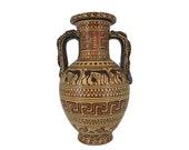 Geometric Ancient Greek Terracotta Ceramic Jar Museum Replica Vase 15.5cm