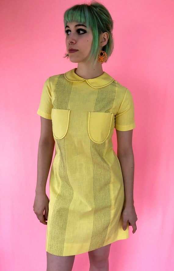 Vintage 70's Bright Yellow shift