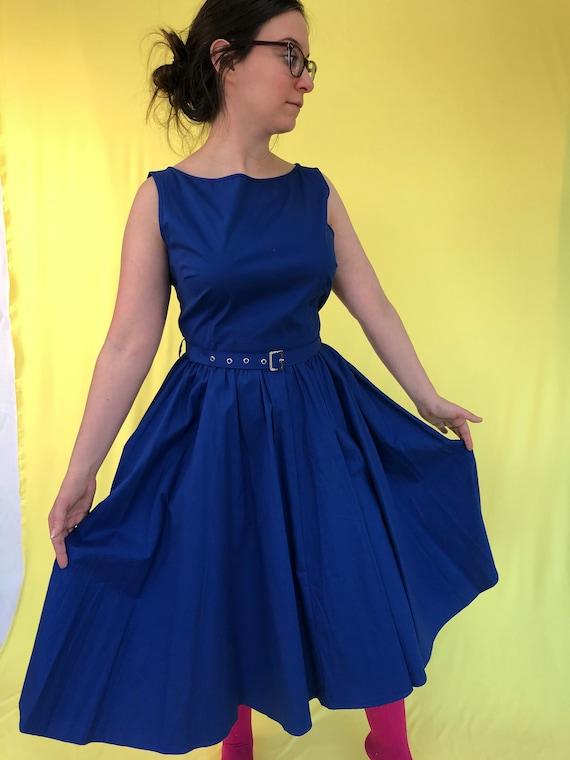 Fifties Vintage dress Costume 50's Royal blue 50's