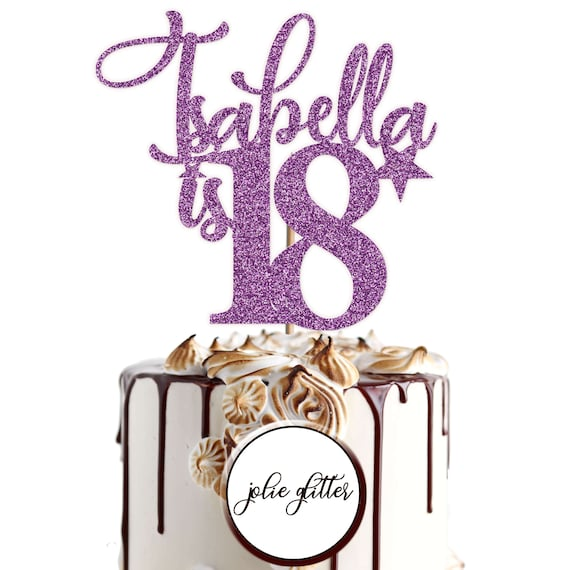 Happy Birthday Cake Topper Decoration Personalised Name Age 18th 20th 22nd 23rd