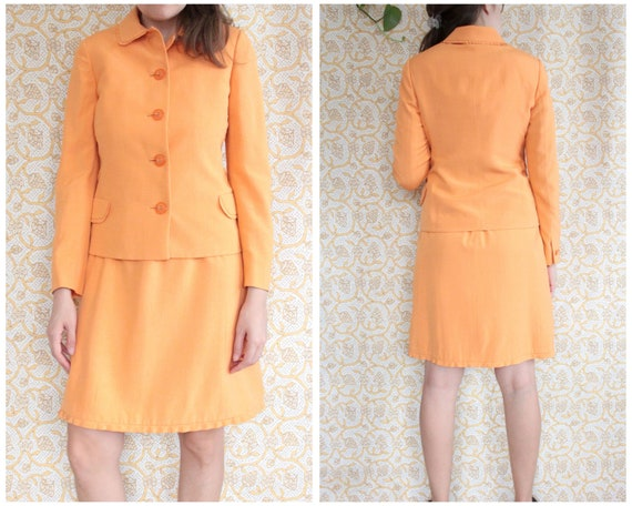 M - Vintage 1990's Versace Orange Dress Suit