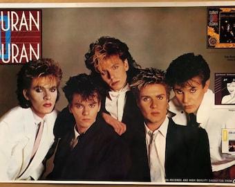 Original Vintage Poster Duran Duran Music Memorabilia Pin Up 1980's Music Promo