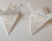 Crane Bird, origami, peace, calligraphy, dinner, name, Christmas tree, Hang, ornament, Christmas,