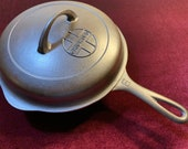 1930 39 s Griswold Button Logo 6 Cast Iron Skillet Lid (mint cond., extremely rare, lid only)