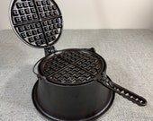 Lodge 8 high base cast iron waffle iron (extremely rare)