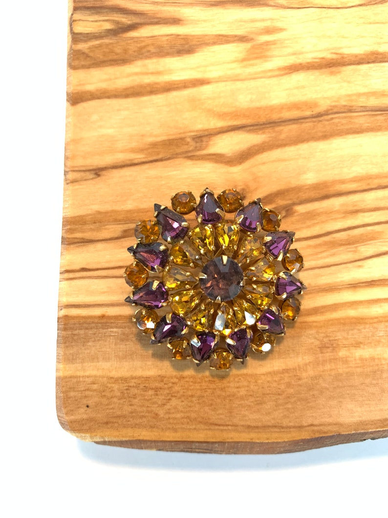 our usual unique stones purple Antique gifts Victorian pin jewelry Vintage orange
