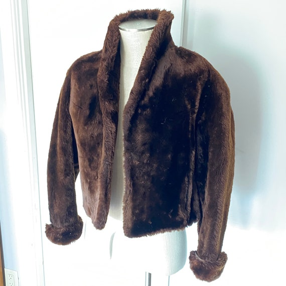 Authentic 1950s cropped fur coat