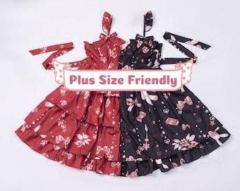 Ready-to-Ship, Plus Size Friendly, Chocolate Bunny Lolita dress, jsk