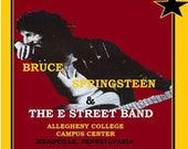 Bruce Springsteen - Allegheny College 11 by 17 Inch Laminated Mancave Shecave Free Shipping