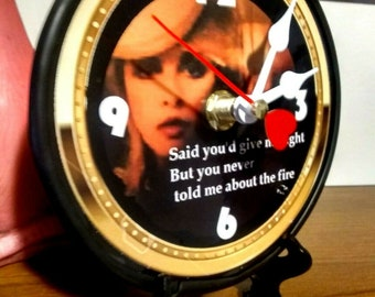5in Quartz Desktop Clock  Black Stand and Gift Box Included  Free Shipping Fleetwood Mac