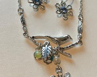 Bluebird Blue Bird Heart Locket Leather Choker Necklace Birthday Mothers Day
