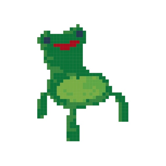 Tiny Froggy Chair Cross Stitch Pattern Etsy