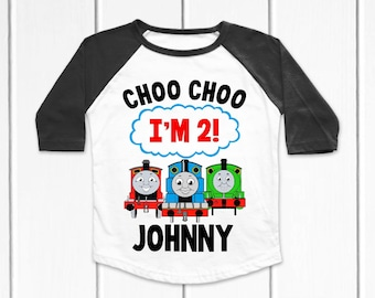 CUSTOM PERSONALIZED THOMAS THE TRAIN TANK ENGINE SHIRT PARTY FAVOR GIFT