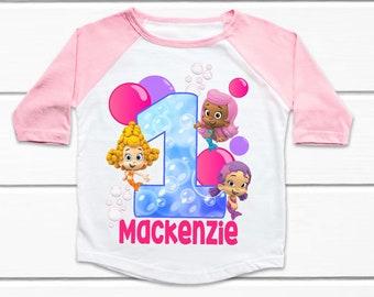 Personalized Bubble Guppies Shirt Bubble Guppies appliqu\u00e9 shirt appliqu\u00e9 Birthday Shirt Bubble Guppies Birthday Shirt Birthday Shirt