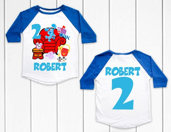 Blues Clues Custom Personalize Birthday Party Favor Gift T-Shirt