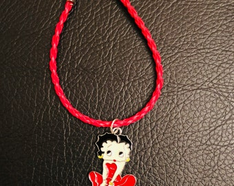 8pcs Betty Boop 16mm picture charms pendants jewellery making craft UK