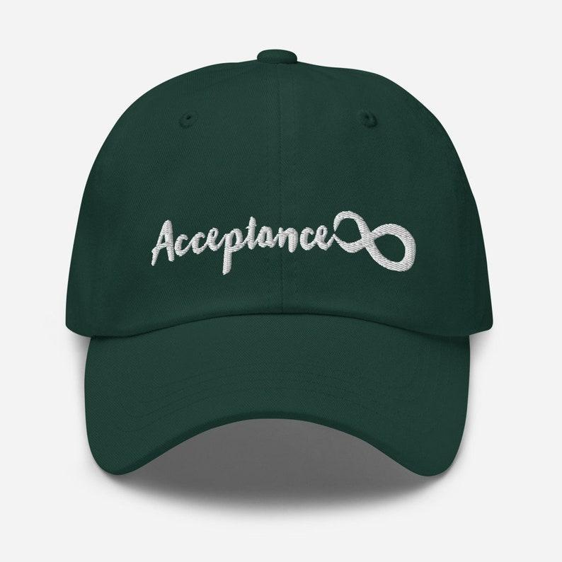 Splintery Acceptance infinity Symbol hat neurodivergency autism spectrum adhd love typography cap hand lettering unique bold original gift