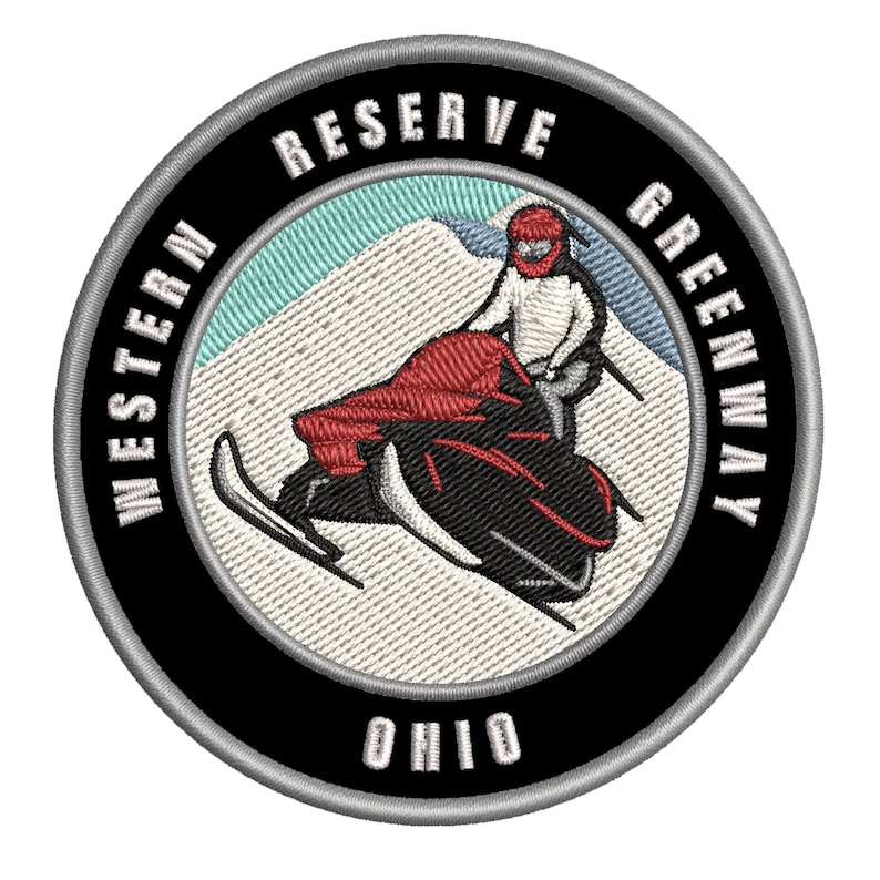 Ohio 3.5 Embroidered Patch Iron On  Sew On Logo Badge Emblem Custom Appliques Extreme Sports Series Western Reserve Greenway