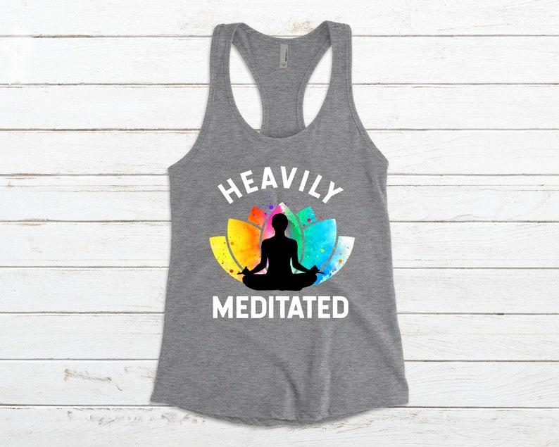 Yoga Gift Yoga Tank Top Cute Yoga Shirt Yoga Meditation Shirt Yoga Meditation Tank Top Women Yoga Workout Shirt