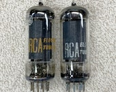 Pair of Strong Testing RCA 6CL6 Tubes Power Pentode