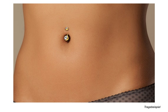 piercing inspiration\u00ae titanium crystal belly button piercing 925 sterling silver chain barbell