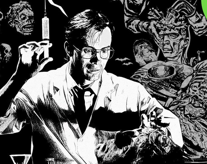 Featured listing image: Herbert West retro monster magazine ad | 11x17 Art Print