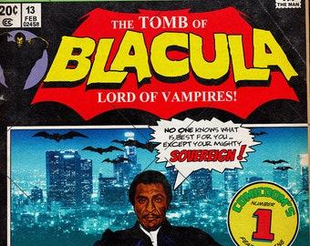 The Tomb of Blacula Fake Comic Cover | 11x17 Art Print