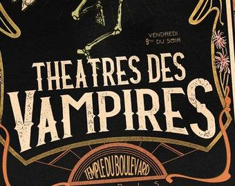 Théâtre des Vampires art nouveau poster | 11x17 Art Print