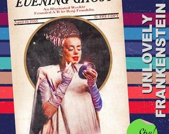 The Blushing Bride of Frankenstein art print | 11x17 Art Print