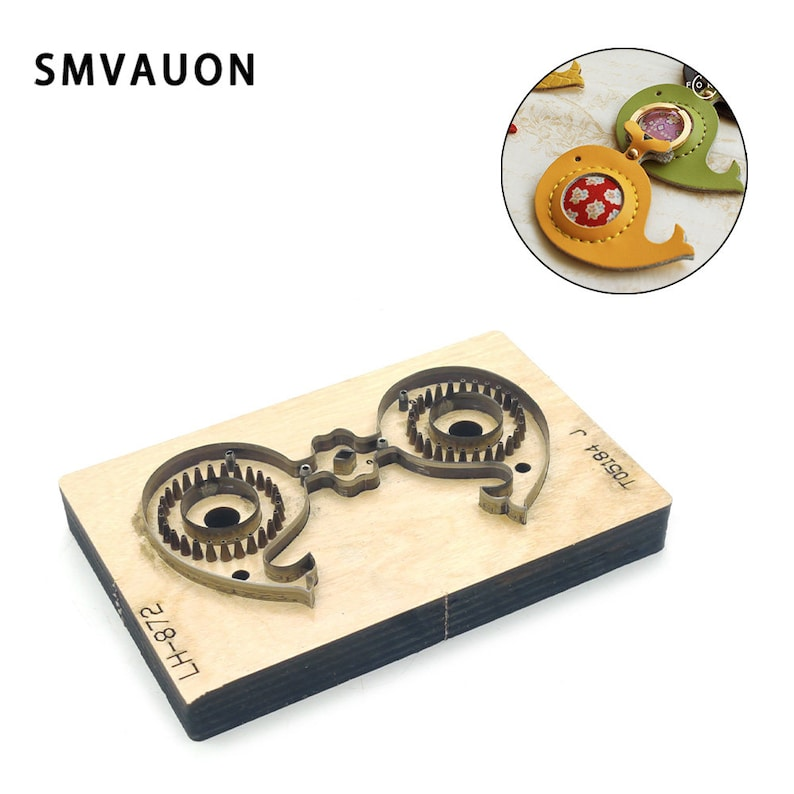 SMVAUON Family Activities  whale key-chian DIY leather key pendant 2020 New DIY die die cutter cutting die for leather