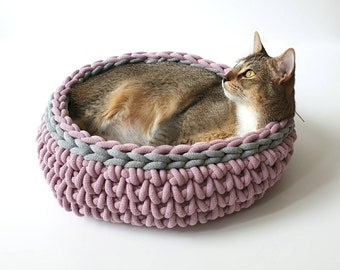 Cat baskets - dog baskets - cat bed - dog bed made of sustainable cotton yarn