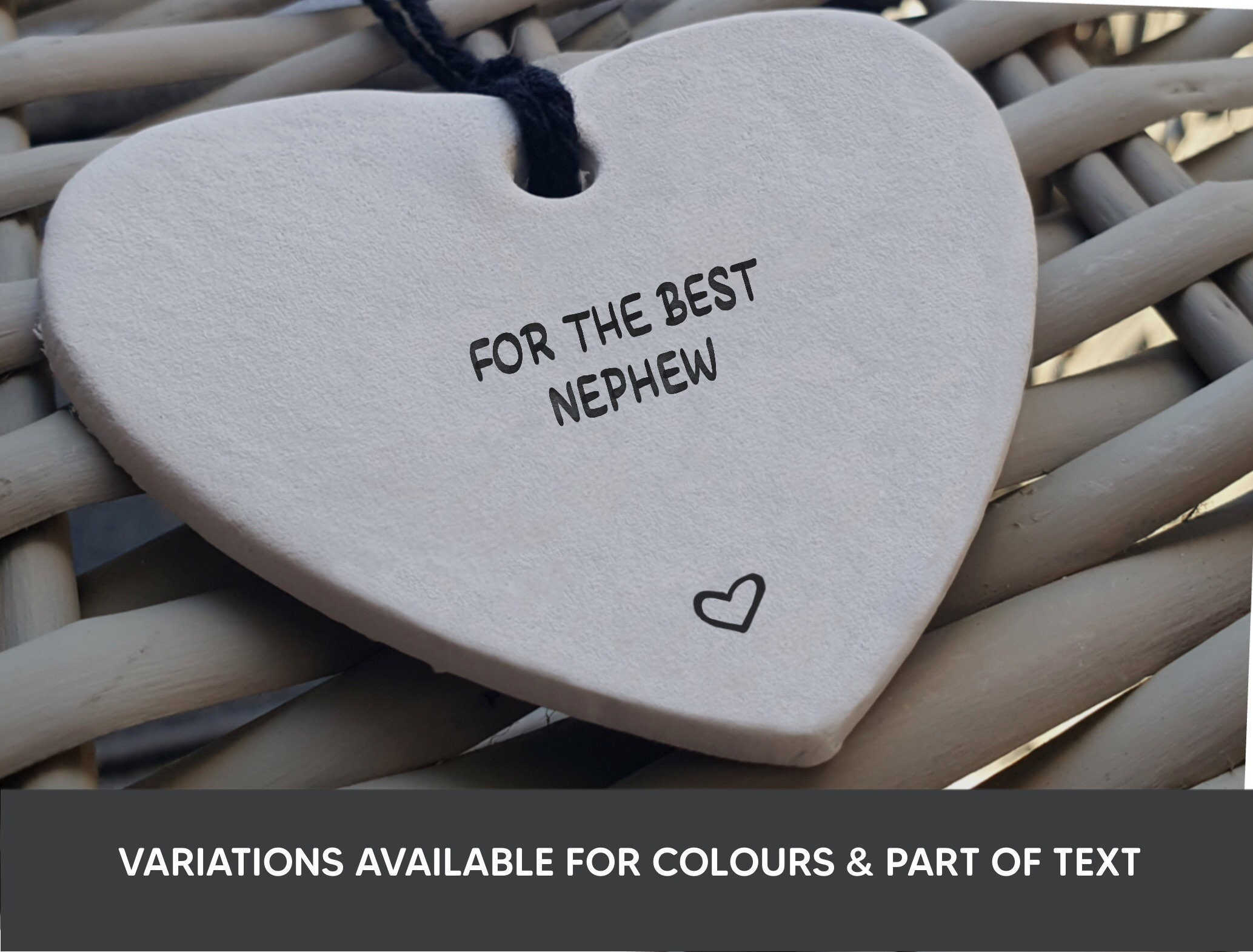 Neffe Geschenk personalisierte Ton Herz Danke Geschenk | Etsy