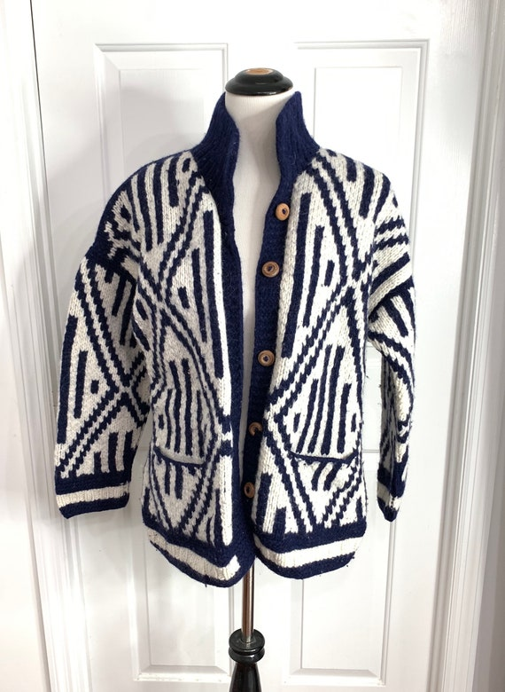 VTG Ecuador Tribal Handmade Oversized Sweater 100