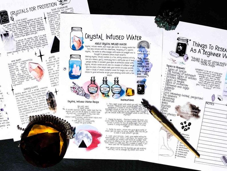 CRYSTAL INFUSED-WATER book of shadows book of shadows image 0