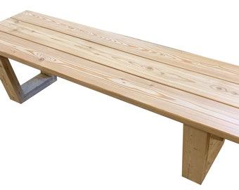 2-seat 130cm Patio Garden Bench, Siberian larch solid wood