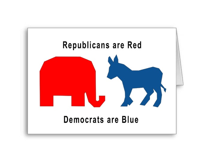 Republican Valentine's Day Card   Politically Incorrect   Trump Valentine's Day   Keep America Great   Red States   Blue States