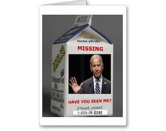 Funny Belated Birthday Card | Joe Biden Card | Sorry I missed your Birthday | Funny Political Card | Politically Incorrect | Political Memes