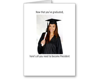 Funny Graduation for her | 2020 Graduate | Political Graduation Card | Presidential Graduation | Politically Incorrect