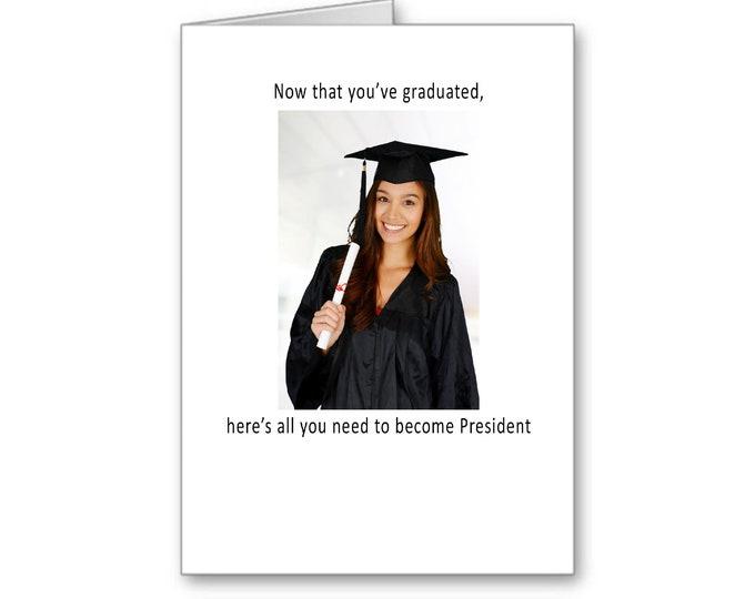 Funny Graduation for her | 2020 Graduate | Political Graduation Card | Presidential Graduation | Politically Incorrect