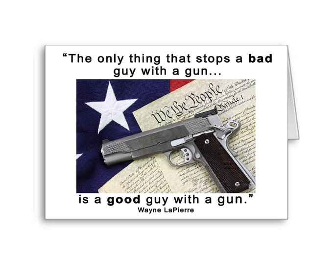 Good Guy with a gun | NRA | Gun Owners | Gun Control | Election 2020 | Wayne LaPierre | 2nd Amendment Rights
