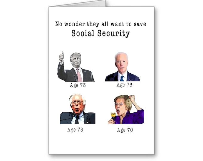 Political Birthday Card | Politically Incorrect | Trump Card | Funny Birthday | Political Memes | Social Security