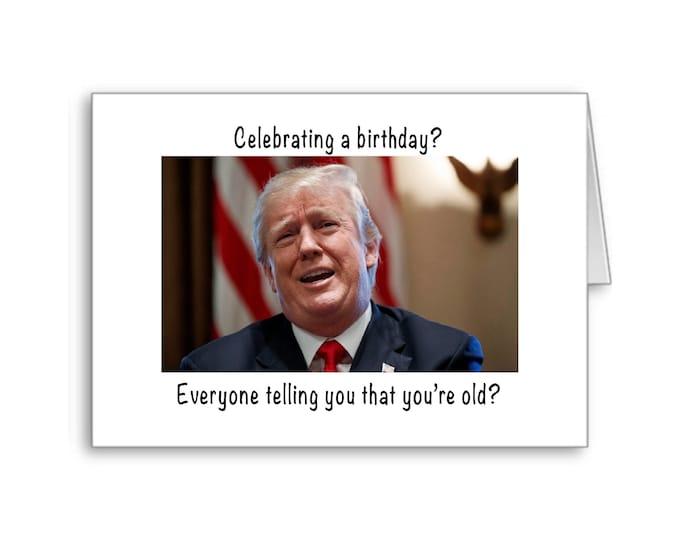 Fake News Birthday Card | Donald Trump | 50th Birthday | 60th Birthday | 70th Birthday | Funny Birthday Card | Politically Incorrect
