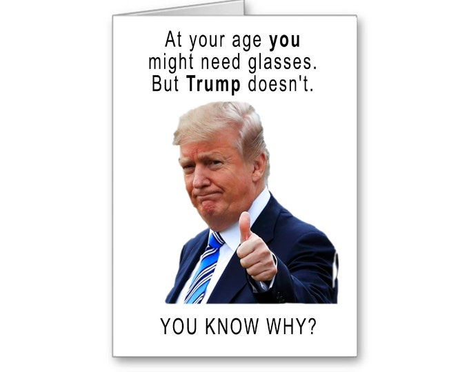 Donald Trump | Funny Birthday Card | Politically Incorrect | Election 2020 | Politics | Trump's Vision